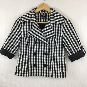 LUII BLACK AND WHITE GINGHAM JACKET
